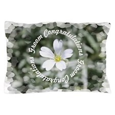 Groom Floral Pillow Case