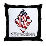 Freedom 1% Throw Pillow
