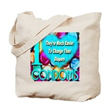 Why I (Heart) Condoms Tote Bag