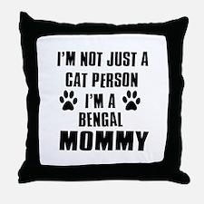 Bengal Cat Design Throw Pillow