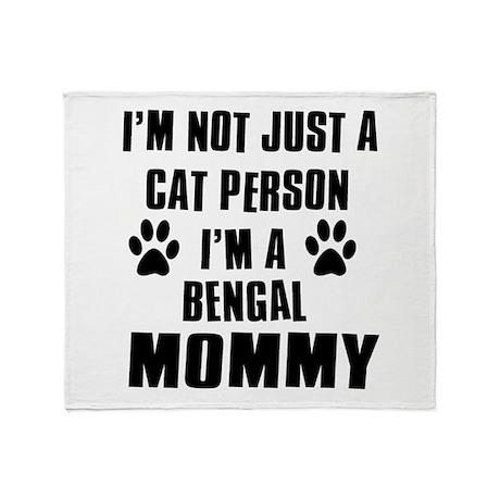 Bengal Cat Design Throw Blanket
