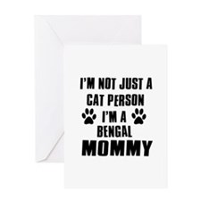 Bengal Cat Design Greeting Card