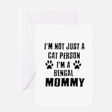 Bengal Cat Design Greeting Card