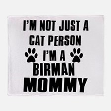 Birman Cat Design Throw Blanket