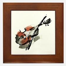Violin Framed Tile