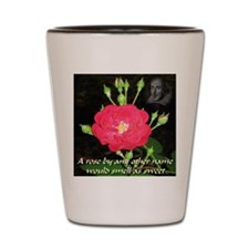 Wild Rose and The Bard Shot Glass