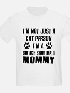 British Short-hair Cat Design T-Shirt
