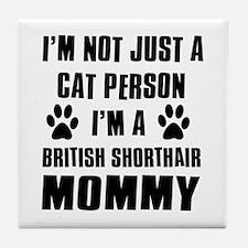 British Short-hair Cat Design Tile Coaster