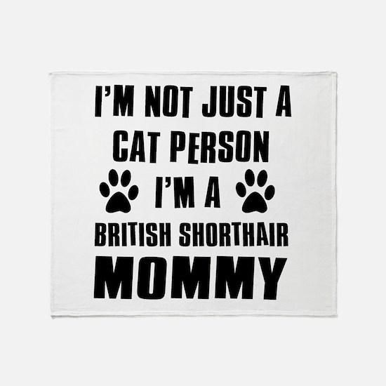 British Short-hair Cat Design Throw Blanket