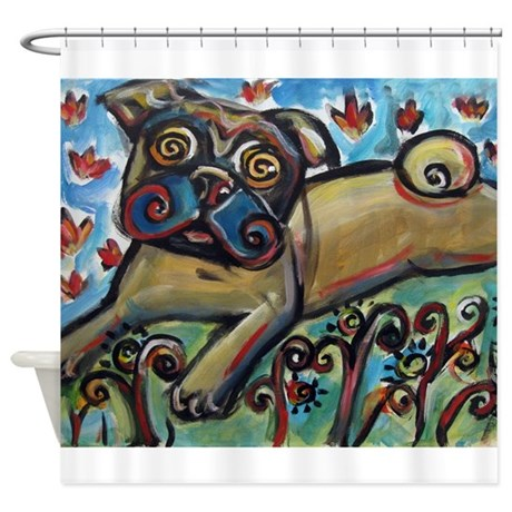 Big Pug Love Shower Curtain