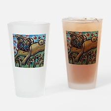 Big Pug Love Drinking Glass
