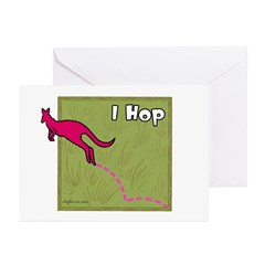 I Hop (Kangaroo) Greeting Cards (Pk of 10)