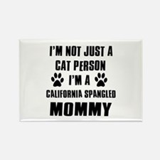 California Spangled Cat Design Rectangle Magnet