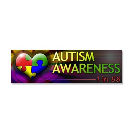 Autism Awareness - 1 in 88 - Car Magnet 10 x 3
