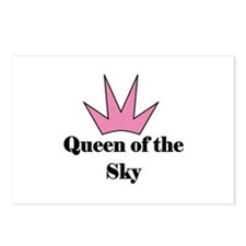 Queen of the Sky (pink) Postcards (Package of 8)