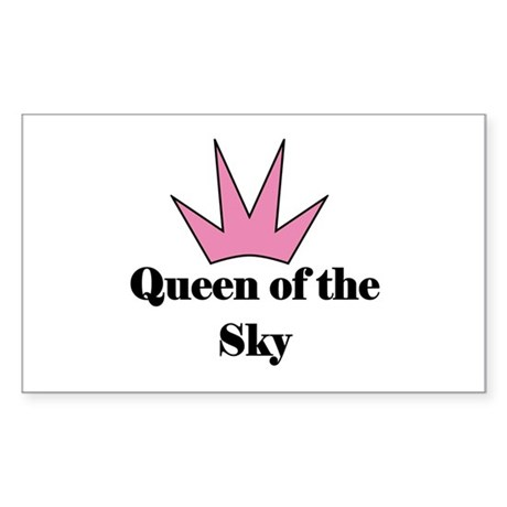 Queen of the Sky (pink) Rectangle Sticker
