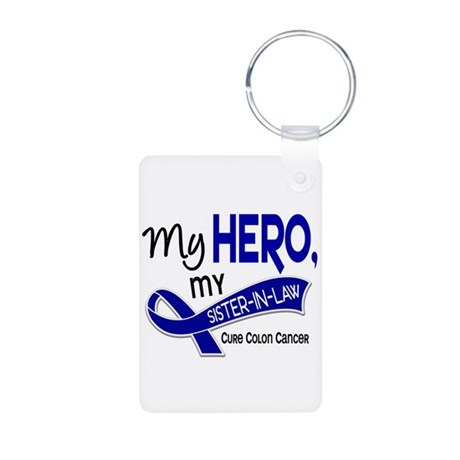 My Hero Colon Cancer Aluminum Photo Keychain