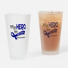 My Hero Colon Cancer Drinking Glass