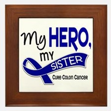 My Hero Colon Cancer Framed Tile