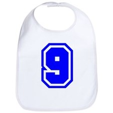 Varsity Uniform Number 9 (Blue) Bib