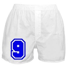 Varsity Uniform Number 9 (Blue) Boxer Shorts