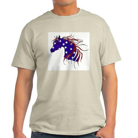 patriotic horse Ash Grey T-Shirt