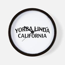 Yorba Linda California Wall Clock