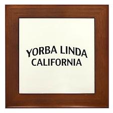 Yorba Linda California Framed Tile