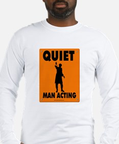 Man Acting Road Sign Long Sleeve T-Shirt