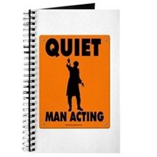 Man Acting Road Sign Journal