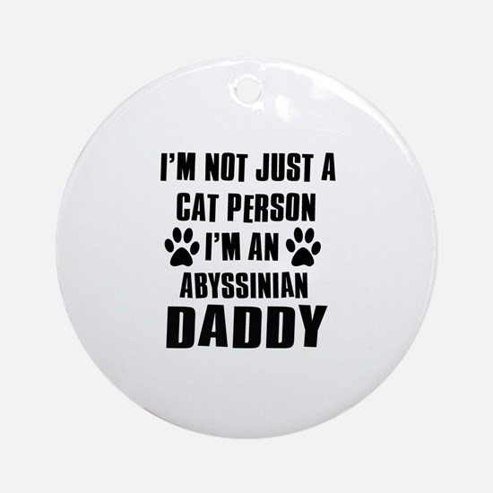 Abyssinian Daddy Ornament (Round)