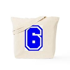 Varsity Uniform Number 6 (Blue) Tote Bag