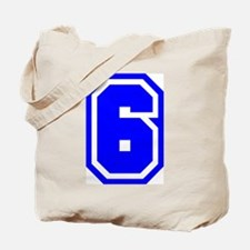 Varsity Uniform Number 6 (Blue) Tote Bag