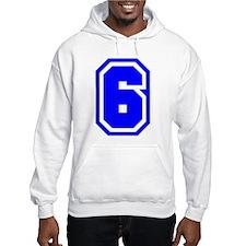 Varsity Uniform Number 6 (Blue) Hoodie