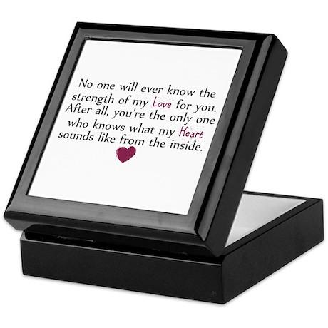 Heart from the inside Keepsake Box