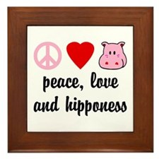 Peace Love and Hipponess Framed Tile