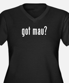 GOT MAU Women's Plus Size V-Neck Dark T-Shirt