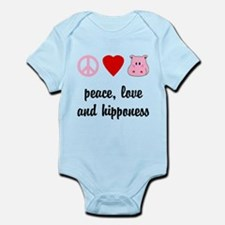 Peace Love and Hipponess Infant Bodysuit