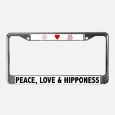 Peace Love and Hipponess License Plate Frame