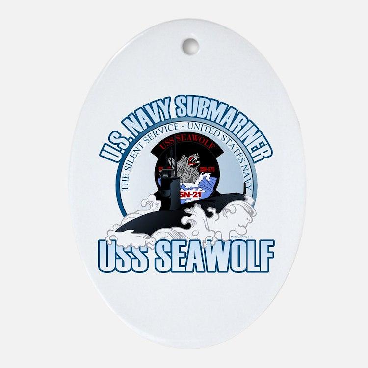 Navy Submariner SSN-21 Ornament (Oval)