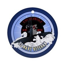 Navy Submariner SSN-21 Ornament (Round)