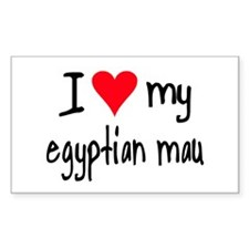I LOVE MY Egyptian Mau Decal