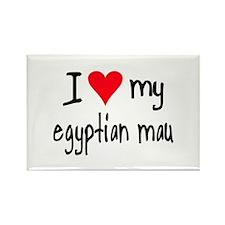 I LOVE MY Egyptian Mau Rectangle Magnet
