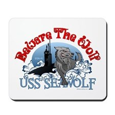 Beware The Wolf! USS Seawolf Mousepad