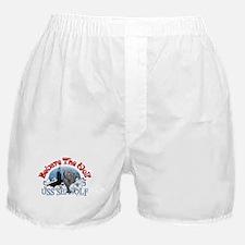 Beware The Wolf! USS Seawolf Boxer Shorts