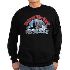 Beware The Wolf! USS Seawolf Sweatshirt