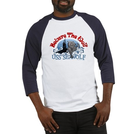 Beware The Wolf! USS Seawolf Baseball Jersey