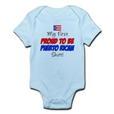 First Proud Puerto Rican Infant Bodysuit