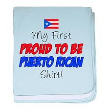 First Proud Puerto Rican baby blanket