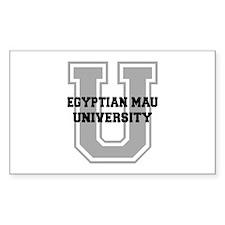 Egyptian Mau UNIVERSITY Decal